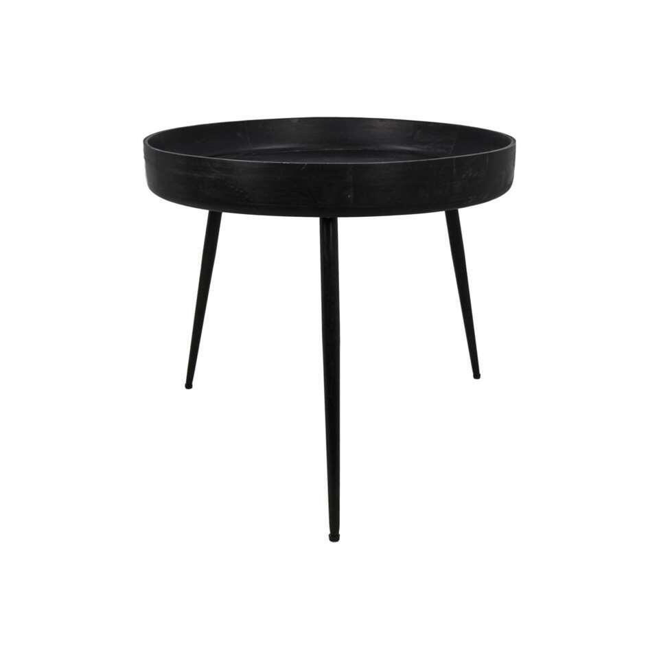 HSM Collection bijzettafel Ventura - zwart - 52x60 cm