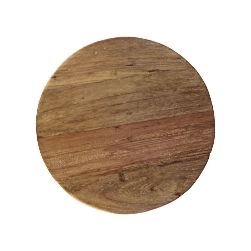 HSM Collection bijzettafel Hourglass - bruin - 50x40 cm