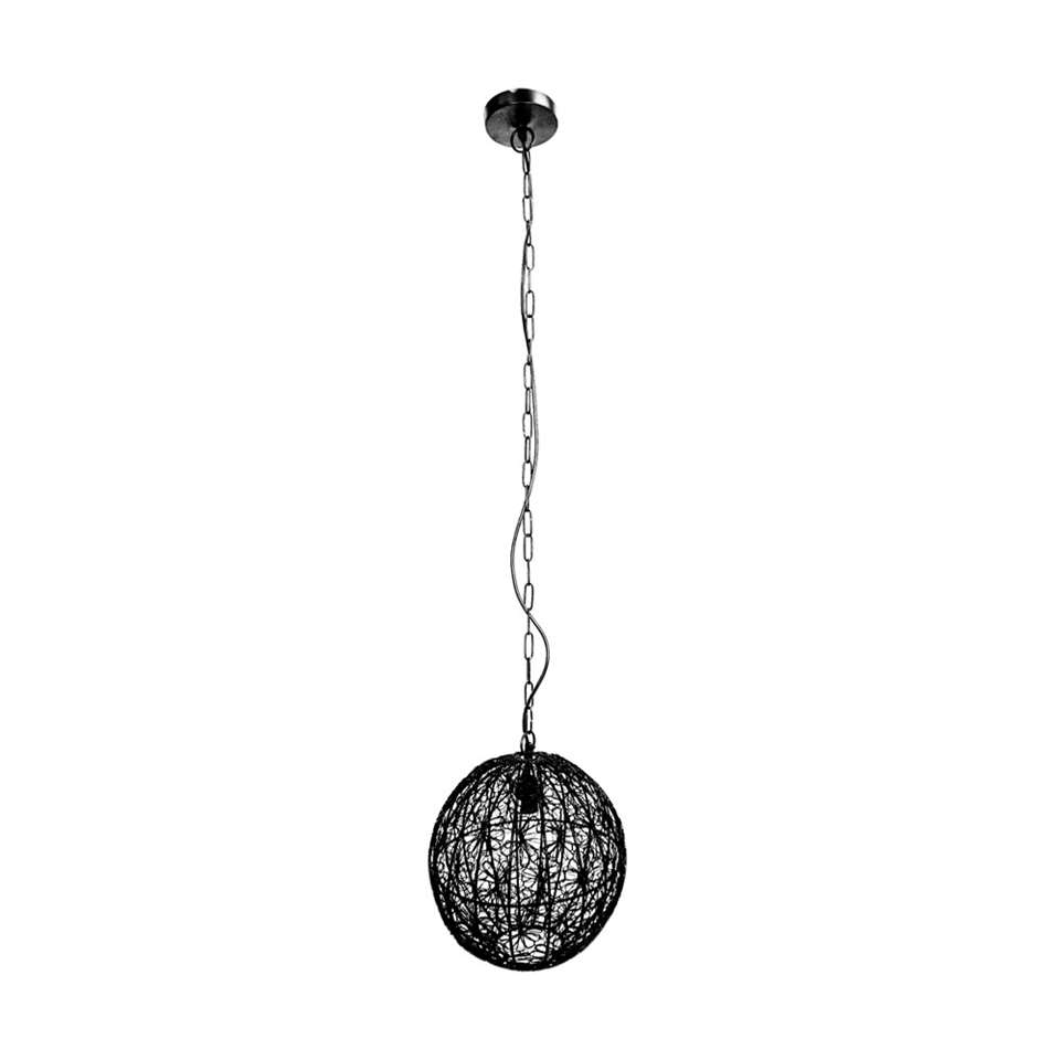 HSM Collection hanglamp Flower - zwart - 34x30 cm