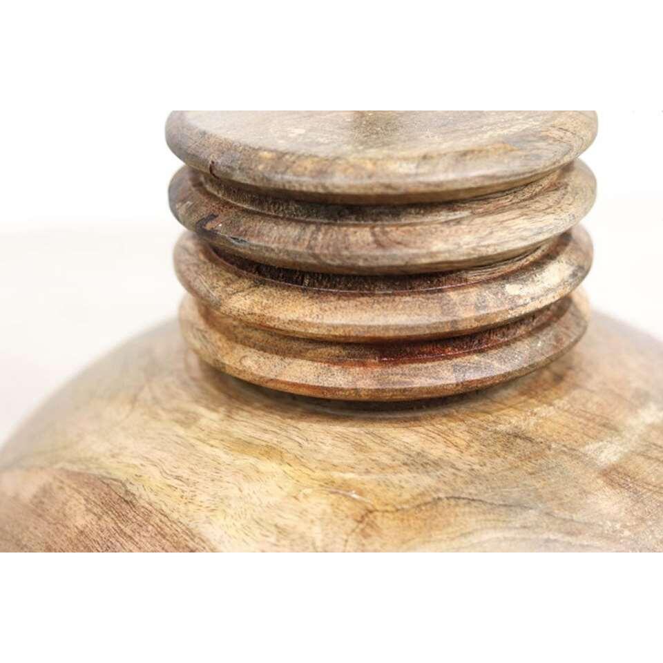 HSM Collection hanglamp Timber - naturel - 35x45 cm