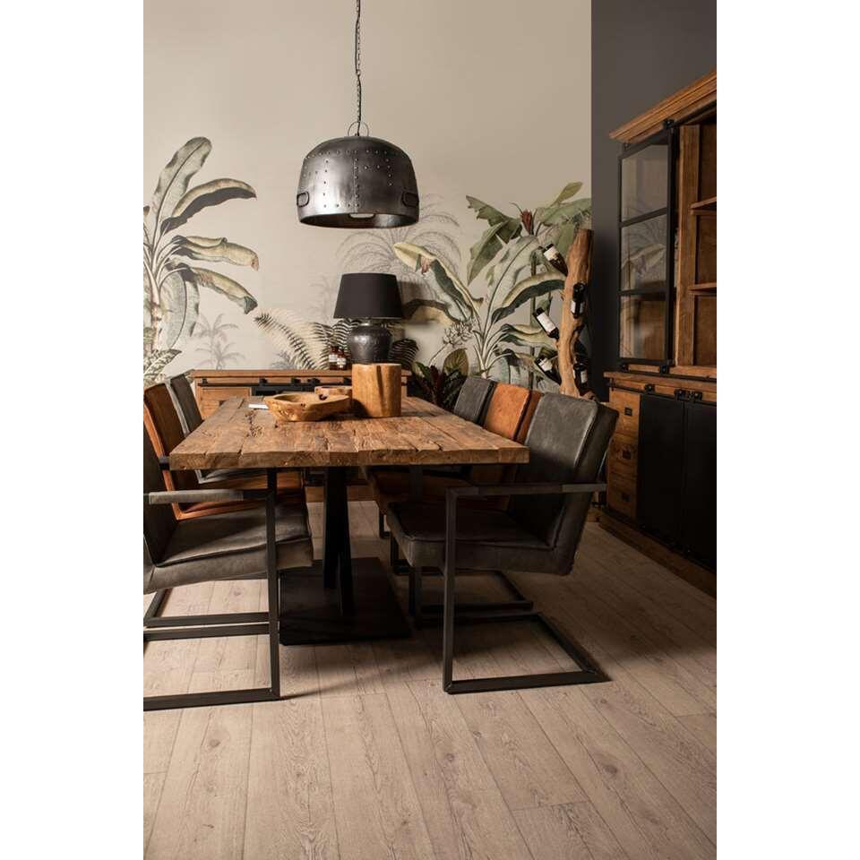 HSM Collection hanglamp Bolt - bruin - 35x50 cm