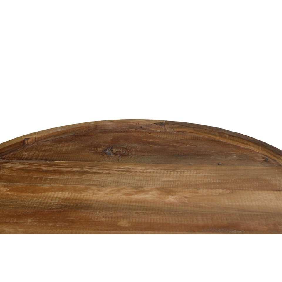 HSM Collection salontafel Eri Hairpin - naturel/zwart - 60x40 cm
