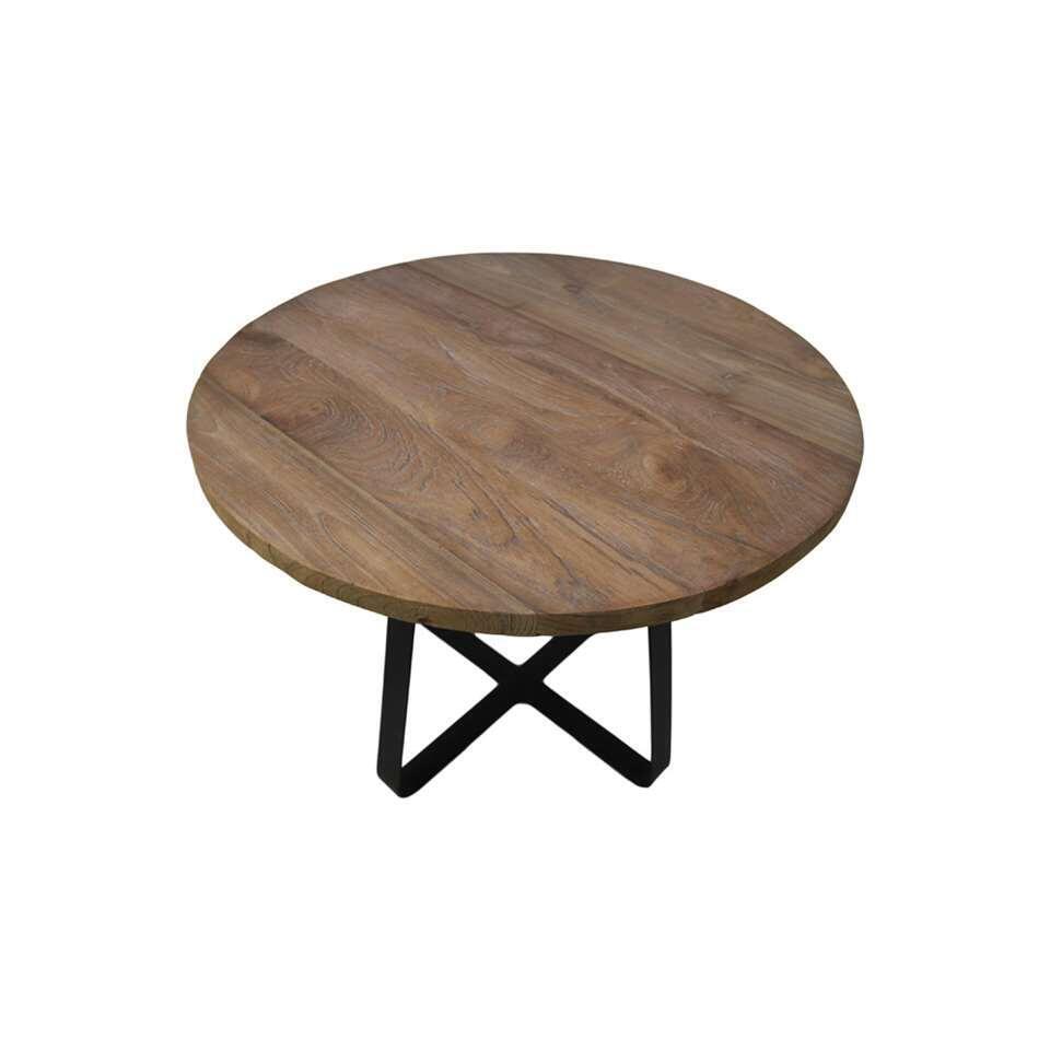 HSM Collection salontafel Junction - naturel/zwart - 38x50 cm
