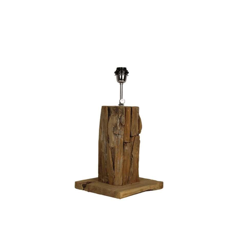 HSM Collection tafellamp Idas vierkant - bruin - 50x25x25 cm