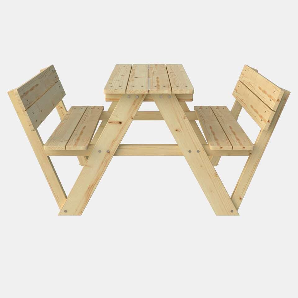 Outdoor Life kinderpicknicktafel met rugleuning - Leen Bakker