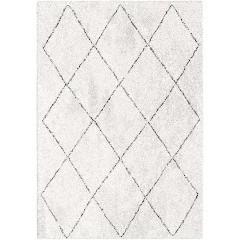 Vloerkleed Lizzano - wit - 120x170 cm