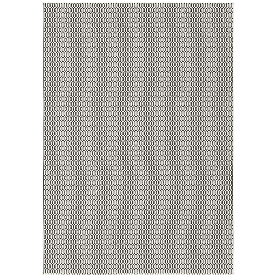 Vloerkleed Nabule - zwart - 120x170 cm