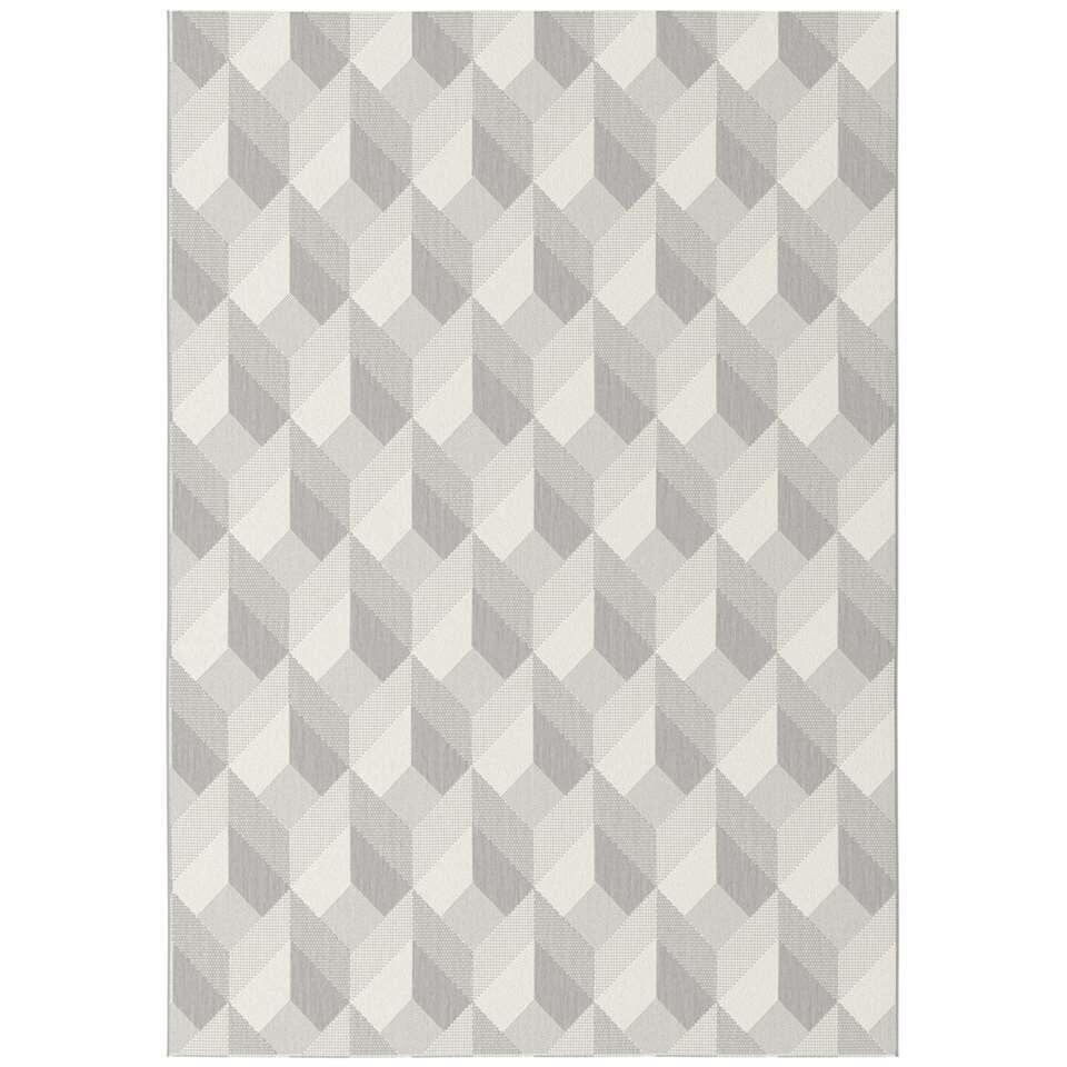 Vloerkleed Fian - grijs - 80x150 cm