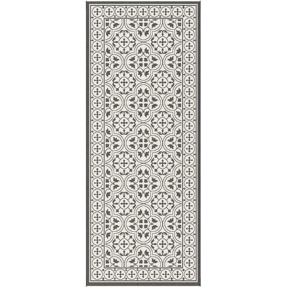 Vloerkleed Gwasi – zwart – 80×200 cm – Leen Bakker