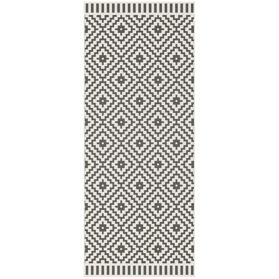 Vloerkleed Ziga - zwart - 80x200 cm