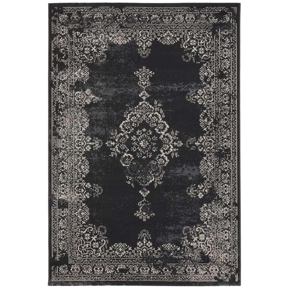 Vloerkleed Vintage - zwart - 160x230 cm