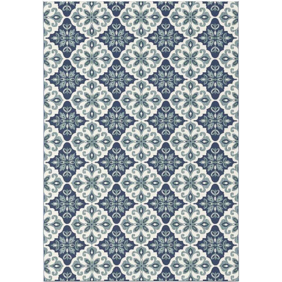 Vloerkleed Diabo - blauw - 120x170 cm