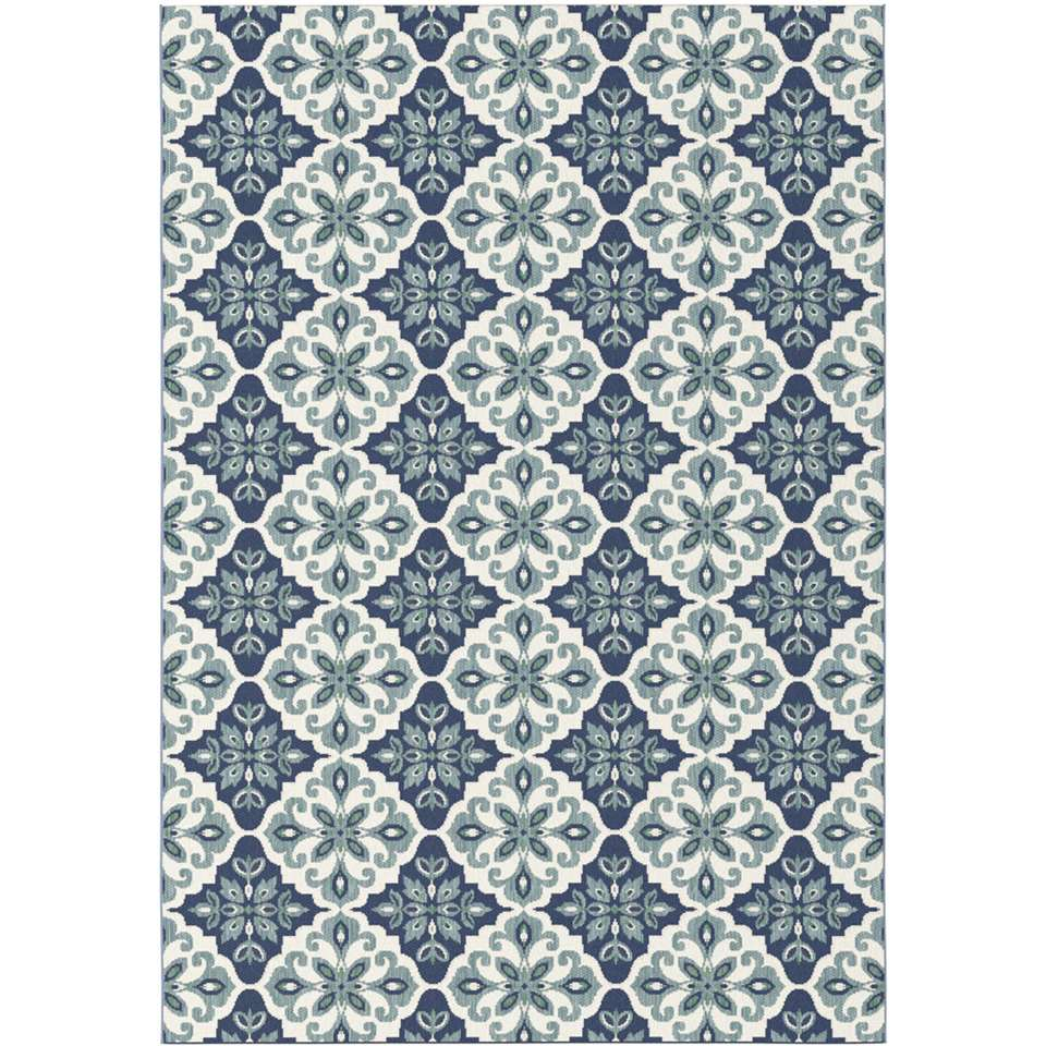 Vloerkleed Diabo - blauw - 200x290 cm