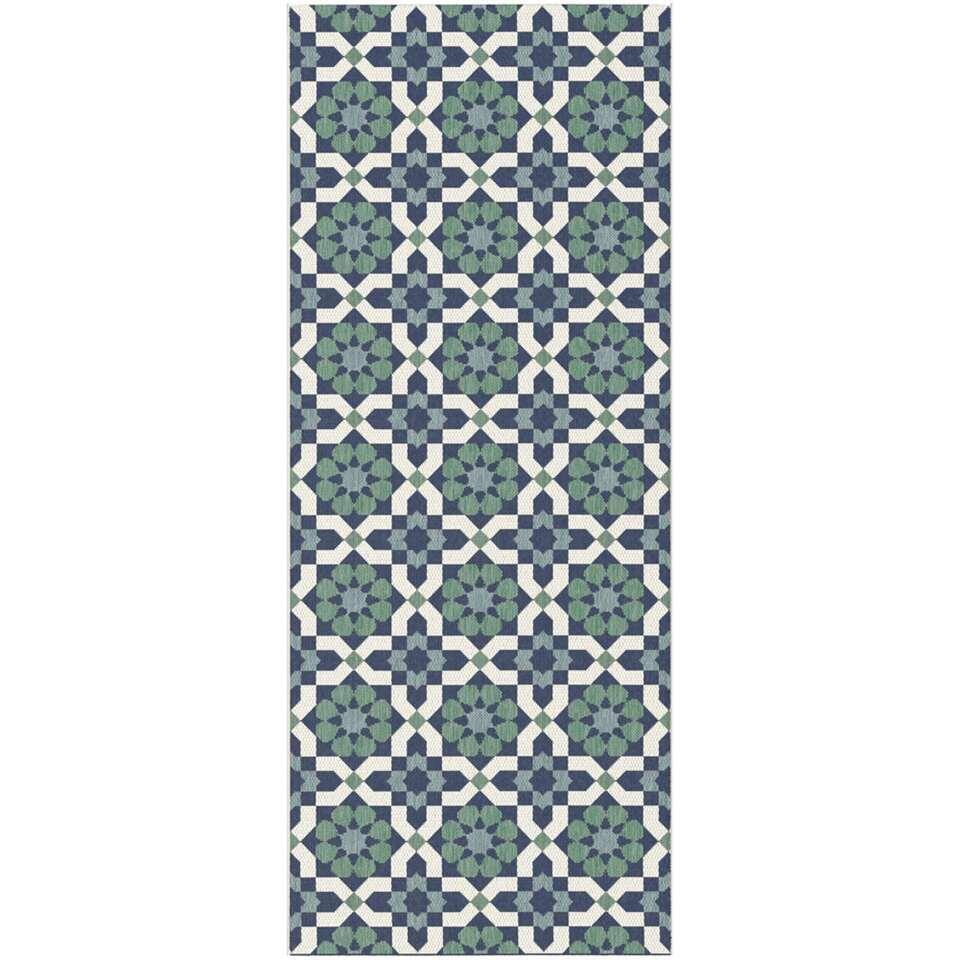 Vloerkleed Seripe - blauw - 80x200 cm