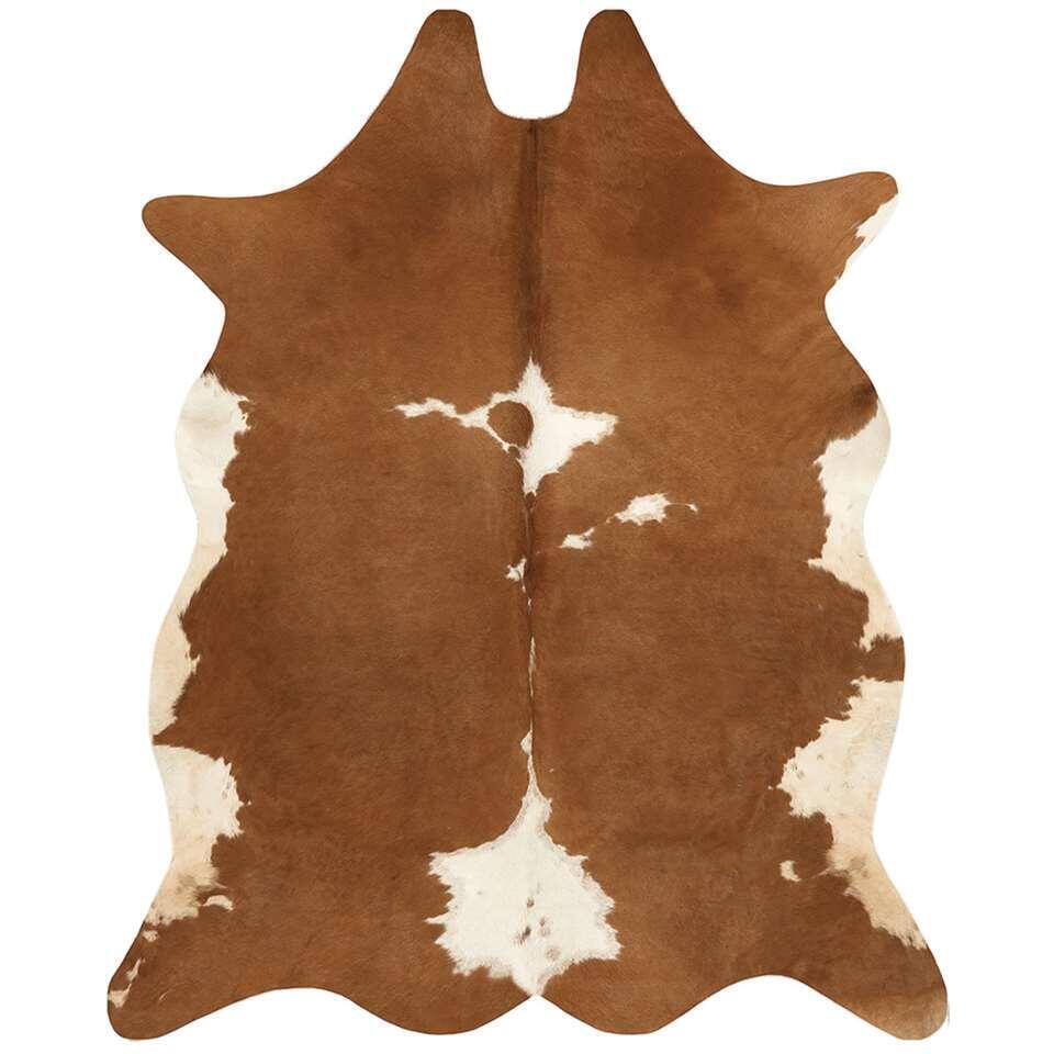 Vloerkleed Mina - bruin/wit - 155x190 cm