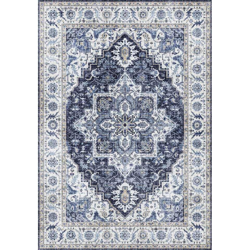 Vloerkleed Saly - blauw - 200x290 cm