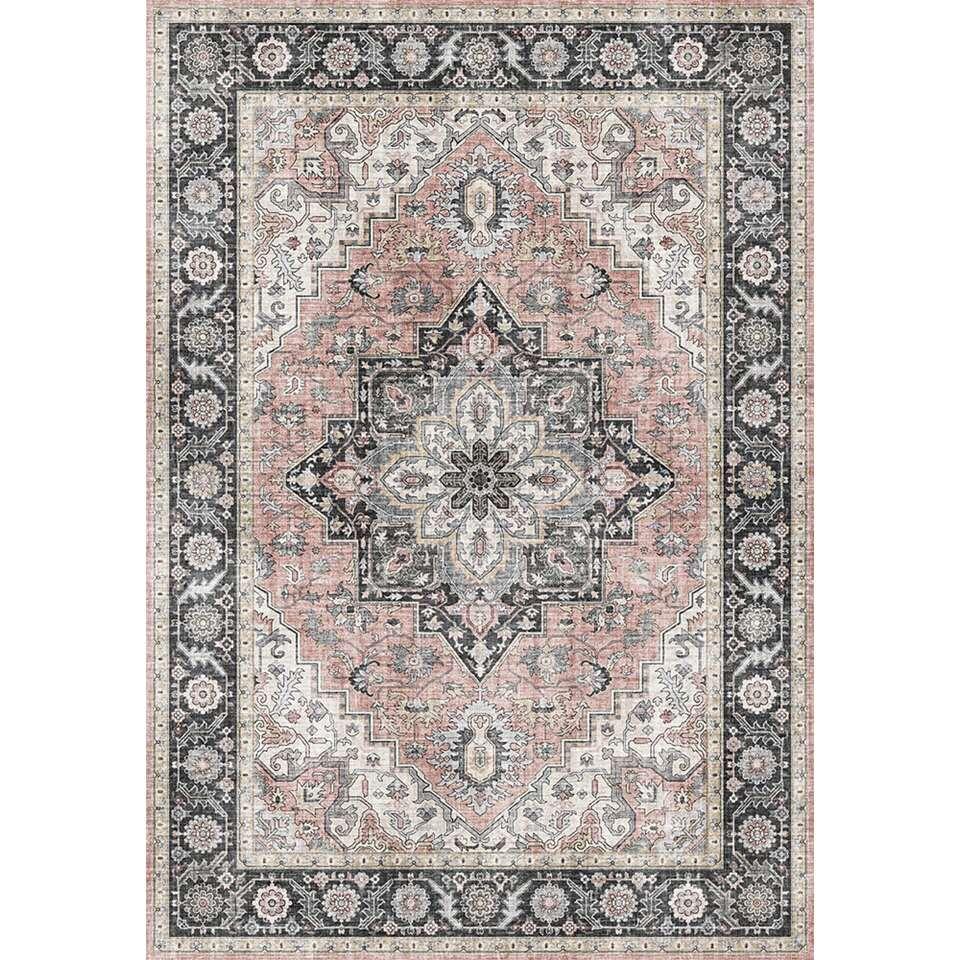 Vloerkleed Caio - roze - 160x230 cm
