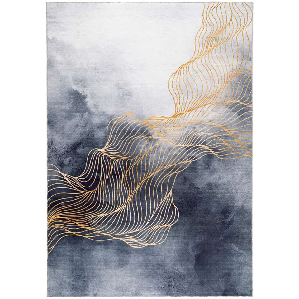 Vloerkleed Sidia - zwart - 160x230 cm