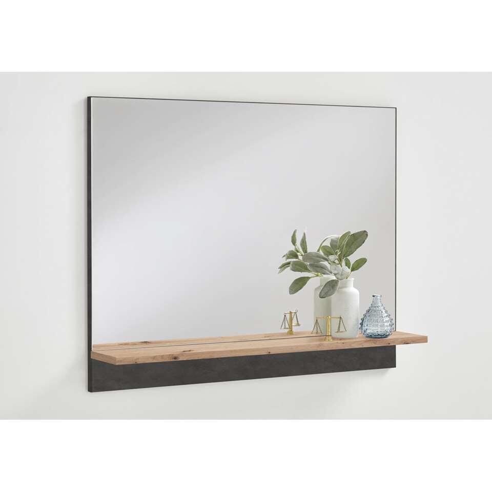 Spiegel Bristol - eikenkleur/grijs - 62,5x80x14 cm