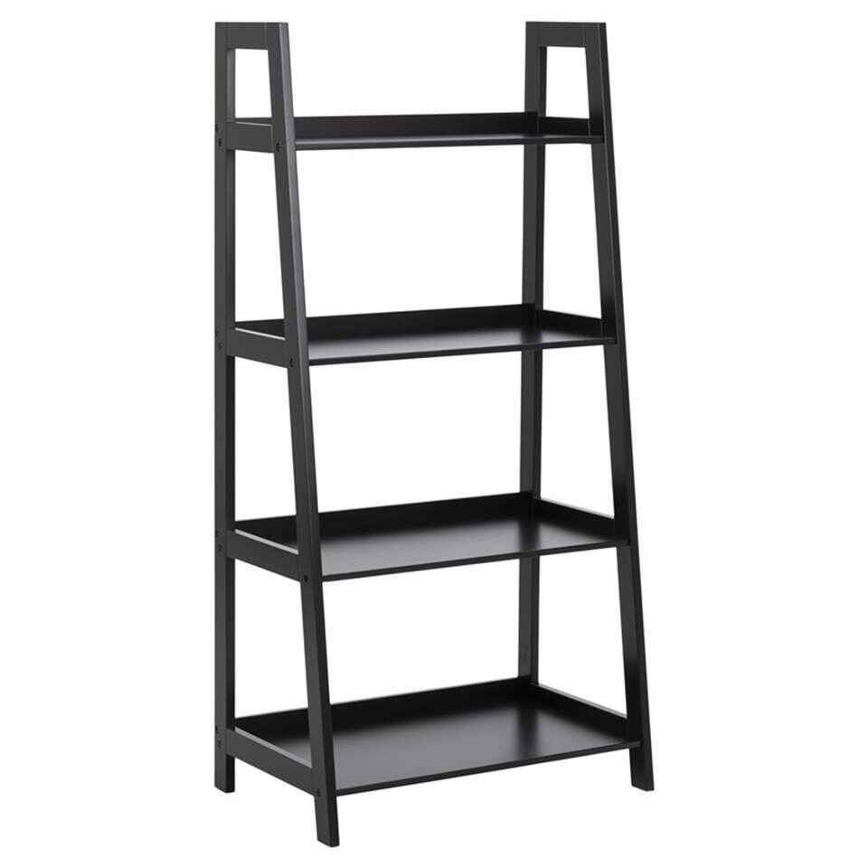 Boekenkast Edsele - zwart - 130x63x40 cm