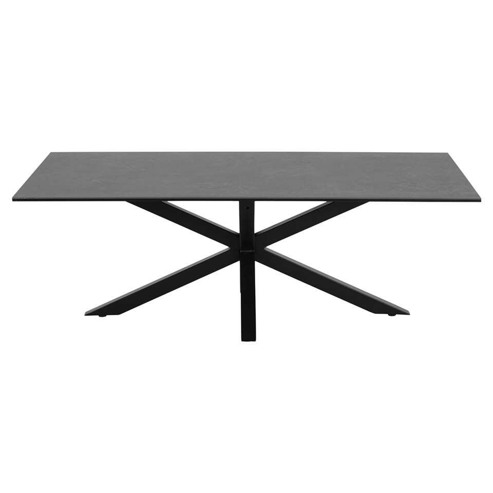 Salontafel Furudal - zwart - 46x130x70 cm