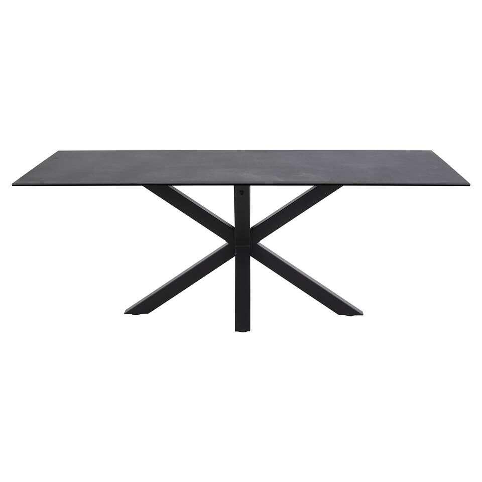 Eetkamertafel Furudal - zwart - 75,5x200x100 cm