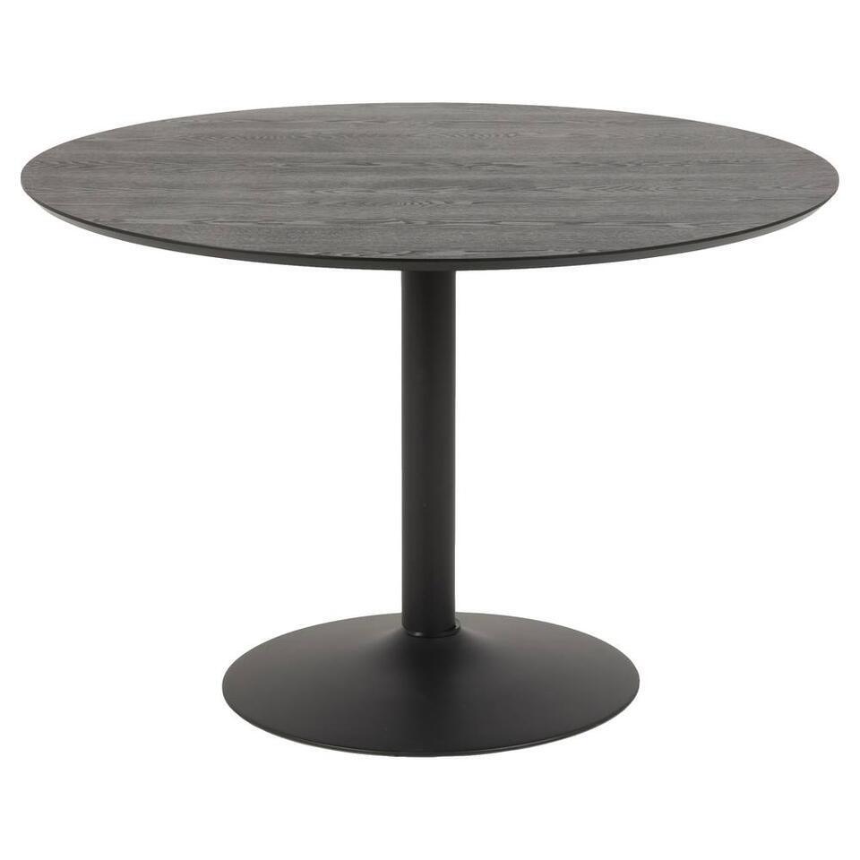 Eetkamertafel Ivano - zwart - 74x110x110 cm
