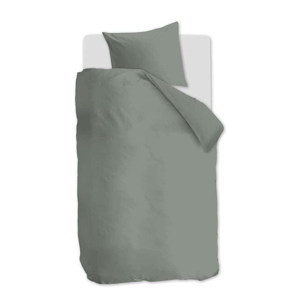 At Home by Beddinghouse dekbedovertrek Easy - groen - 140x200/220 cm