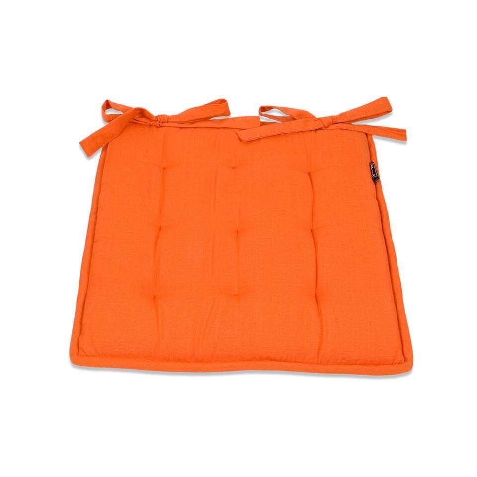 Zitkussen Tivoli Bistro - mandarijn - 40x40 cm