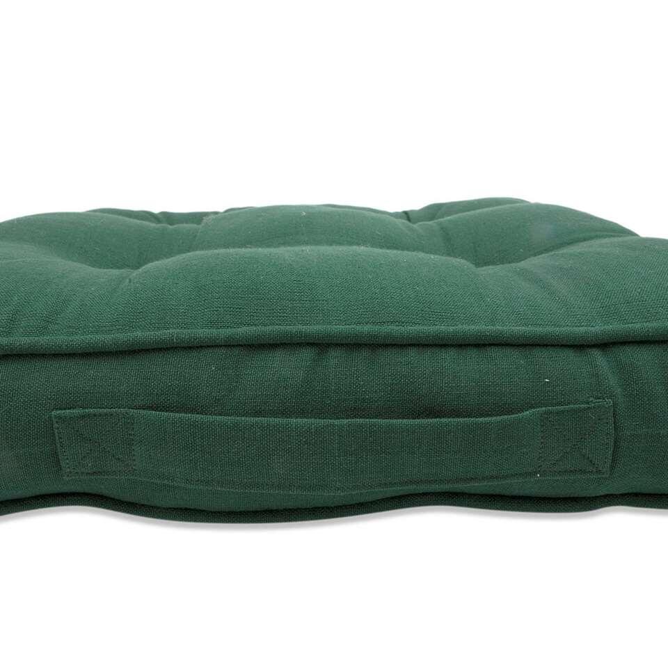 Matraskussen Tivoli - groen - 45x45x7 cm