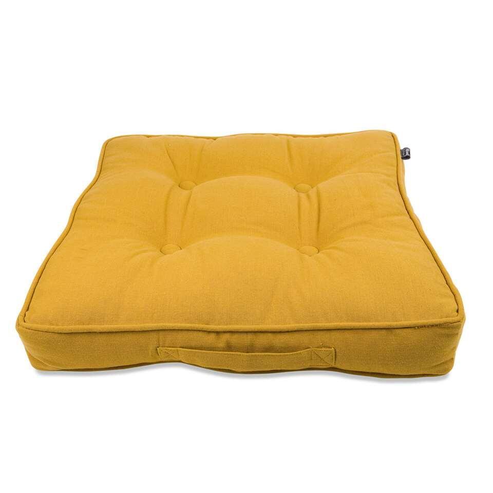 Matraskussen Tivoli - geel - 45x45x7 cm