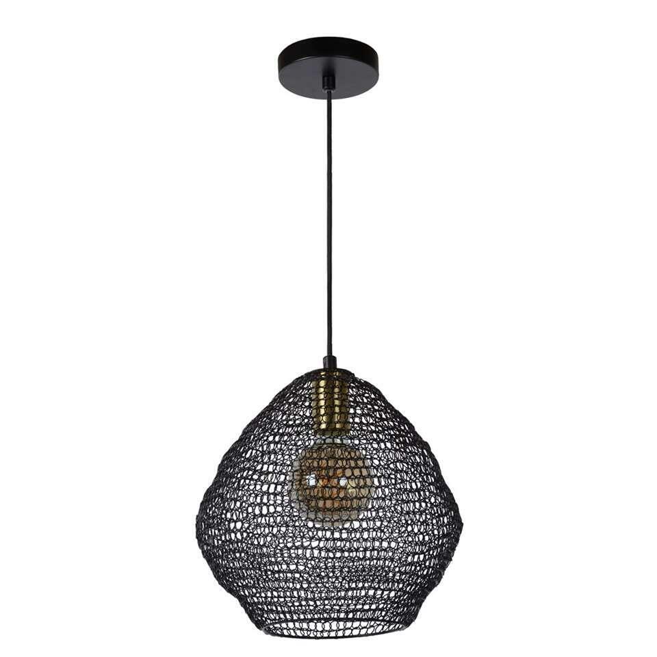 Lucide hanglamp Saar - zwart - 28 cm