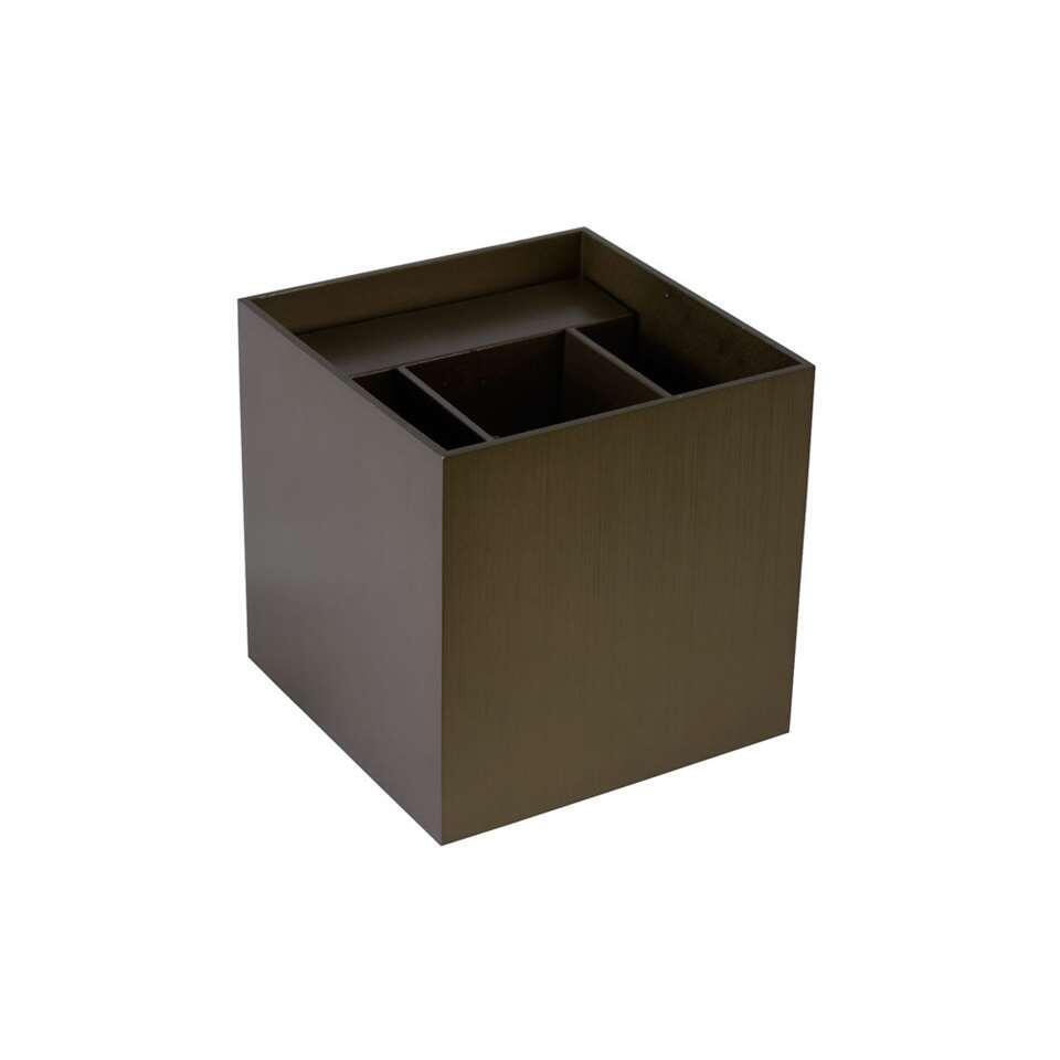 Lucide wandlamp Xio - koffie
