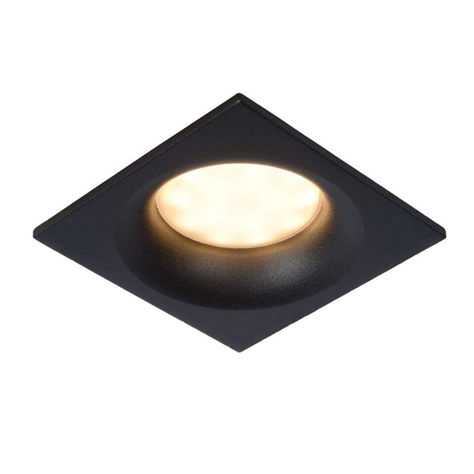 Lucide inbouwspot Ziva - zwart - 8,5x8,5 cm