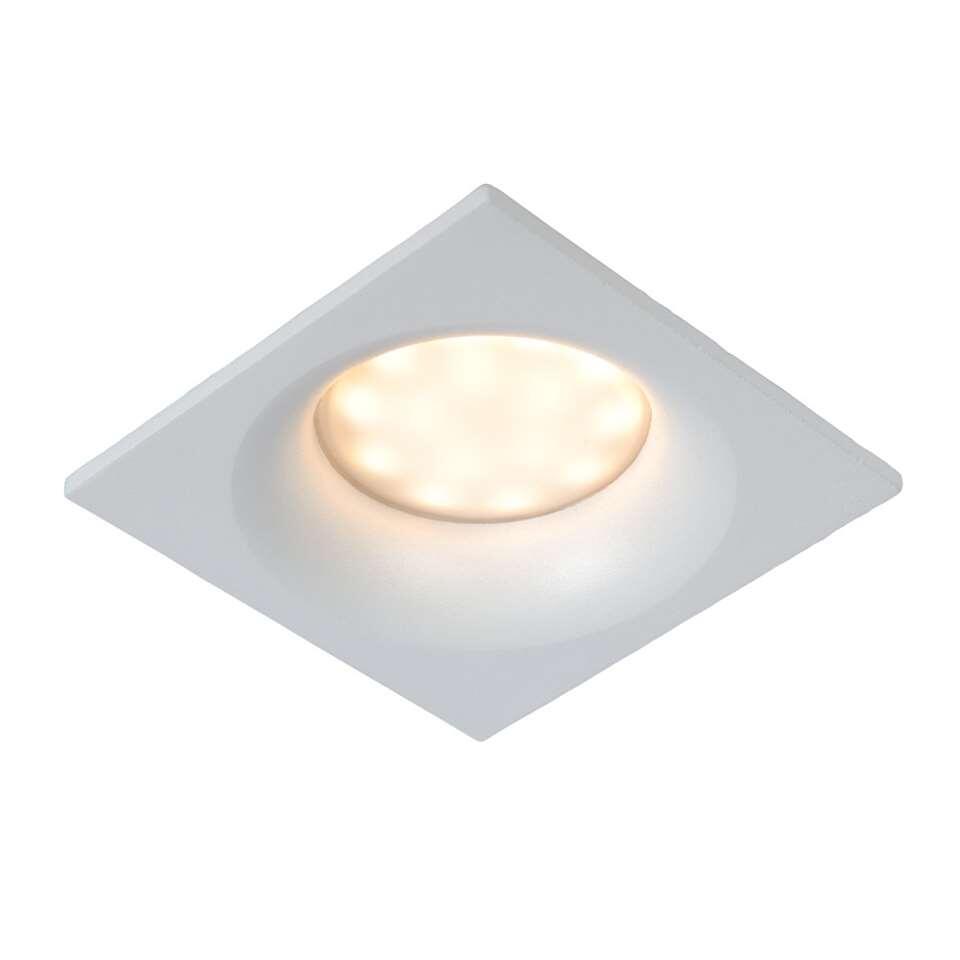 Lucide inbouwspot Ziva - wit - 8,5x8,5 cm
