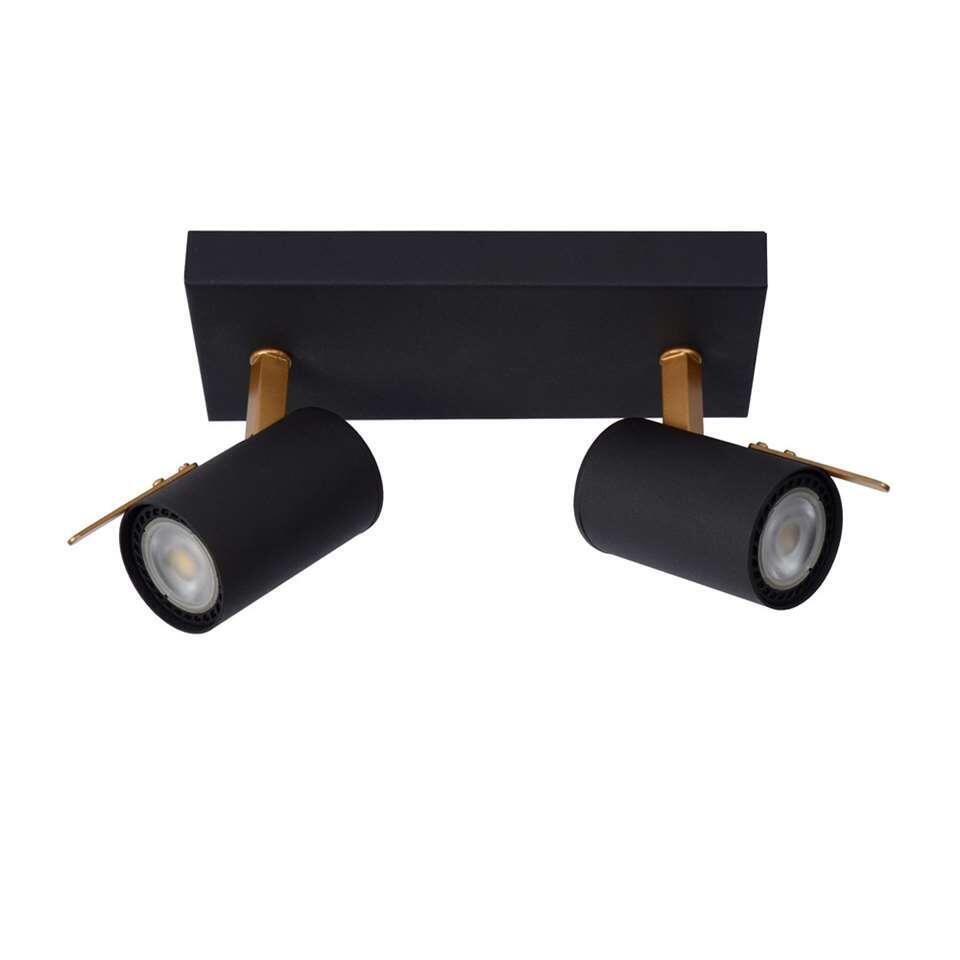 Lucide wandlamp Grony 2-lamp - zwart