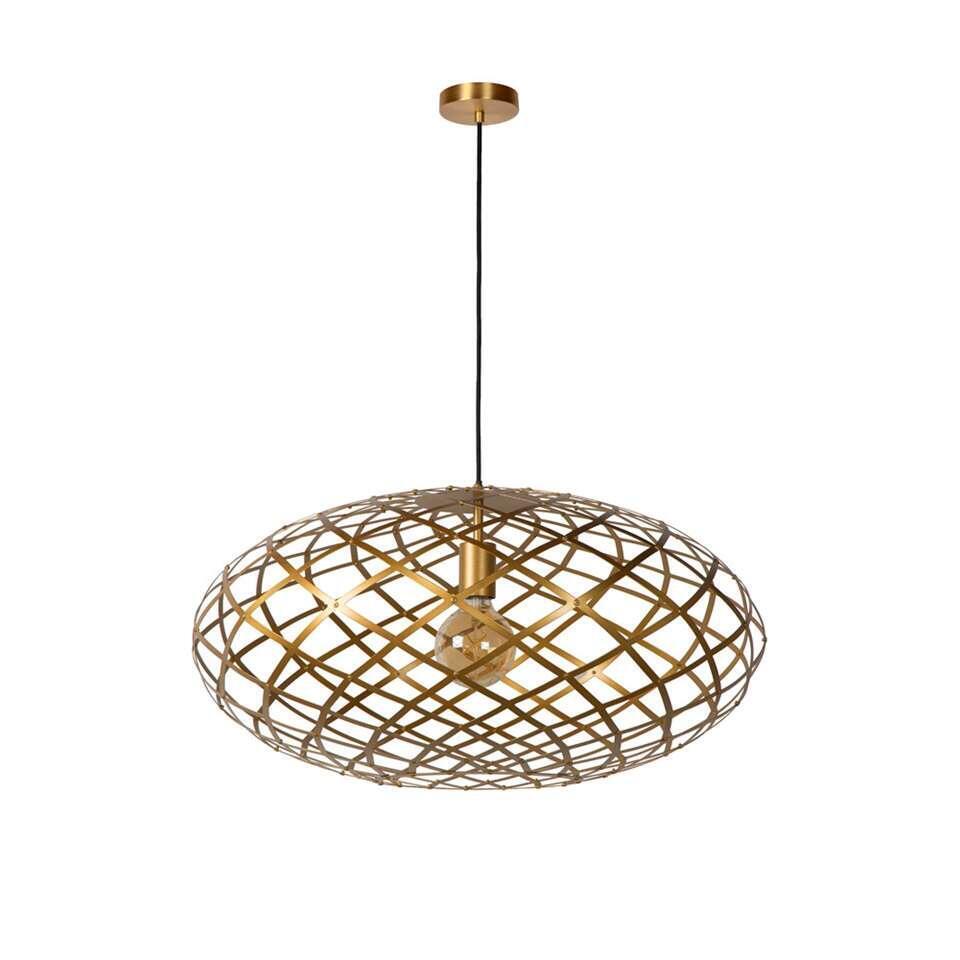 Lucide hanglamp Wolfram - mat goud/messing - 65 cm