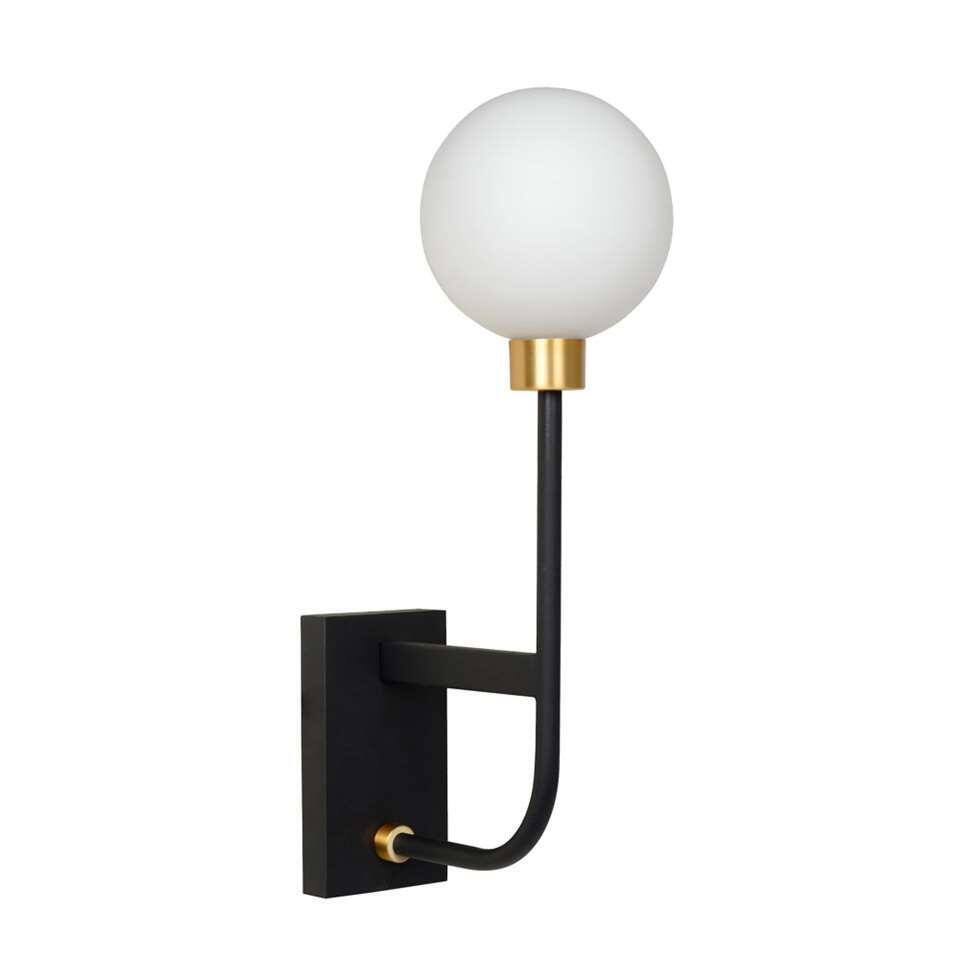 Lucide wandlamp Berend - zwart - 39 cm