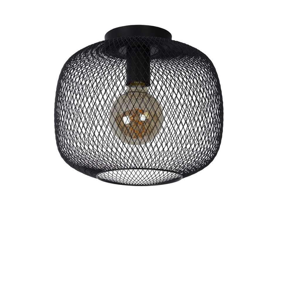 Lucide plafonnière Mesh - zwart - 30x25,5 cm