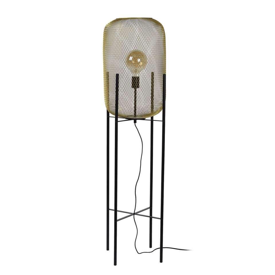 Lucide vloerlamp Mesh - mat goud/messing