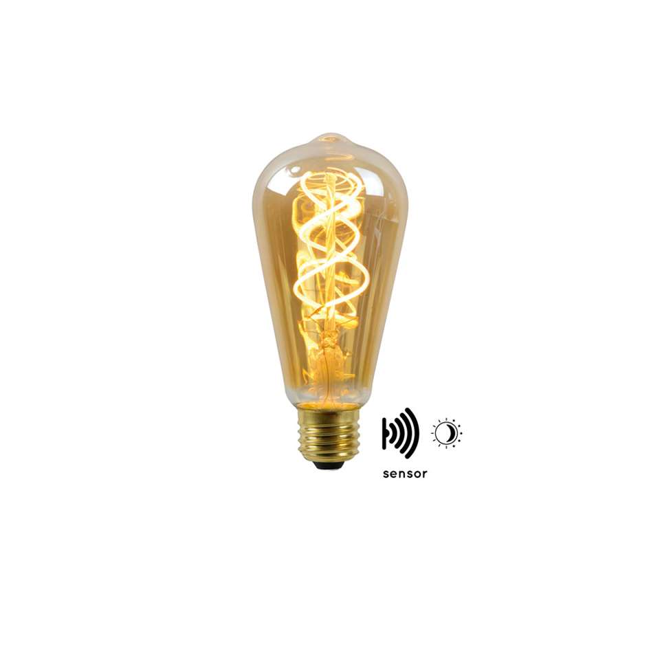 Lucide LED Bulb Twilight Filament lamp E27 4W - amber - 6,4 cm