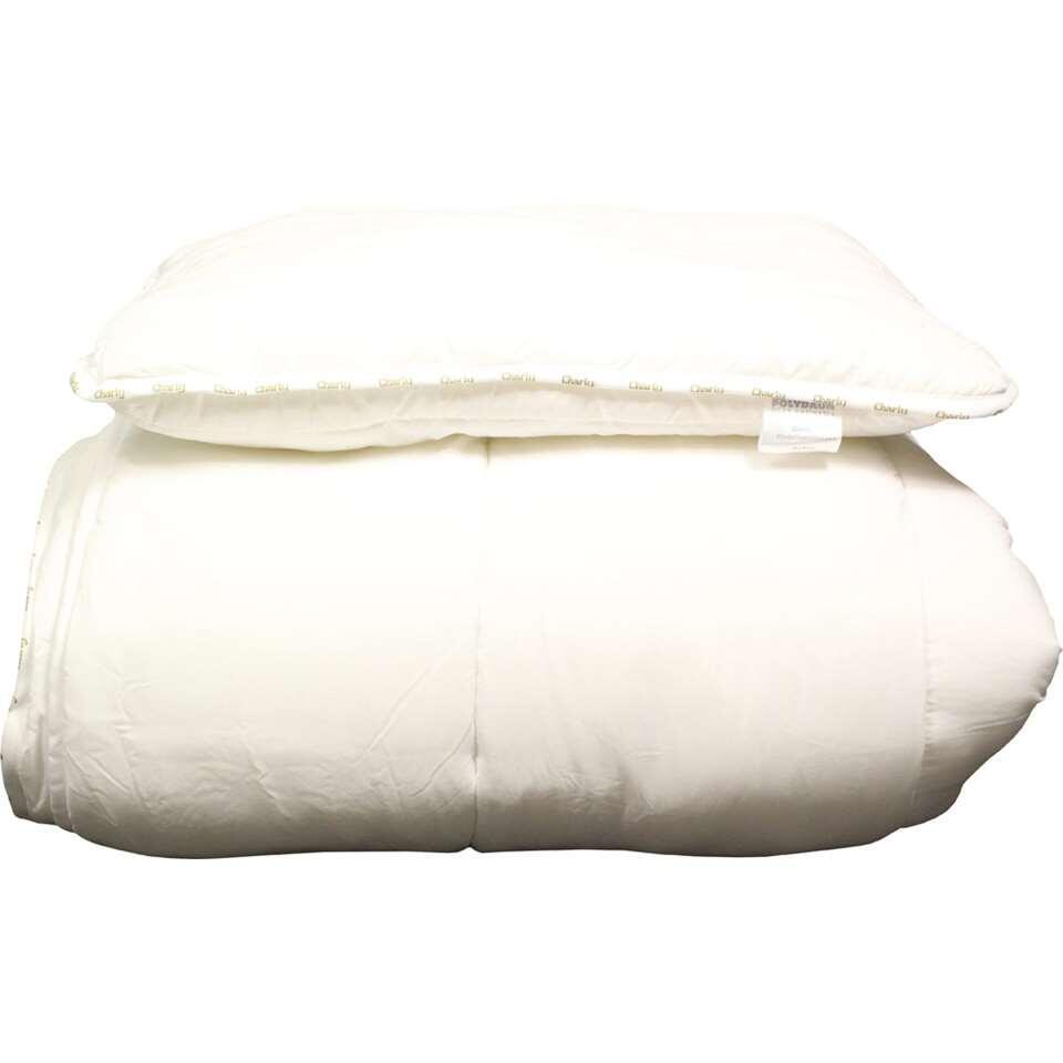 Polydaun kinderdekbed & kussen Charly 4S - wit - 140x200 cm