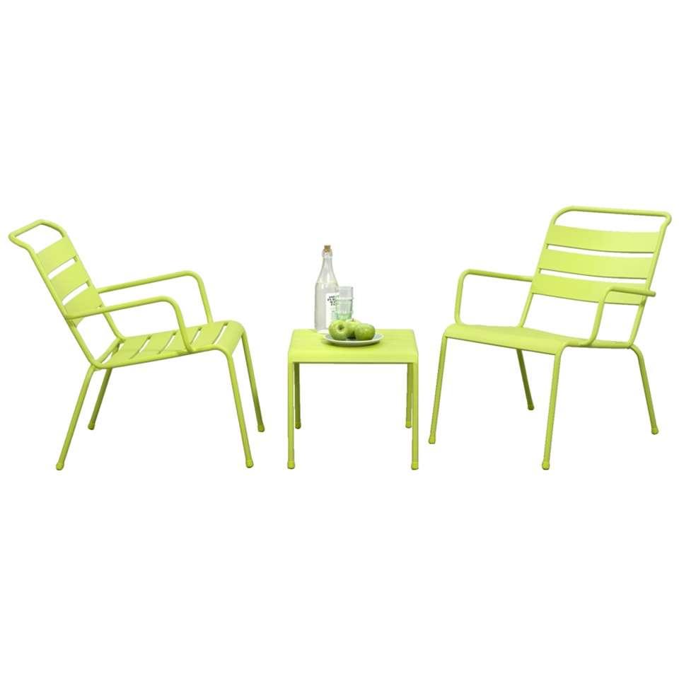 Loungeset Fortaleze - groen - 3-delig - Leen Bakker