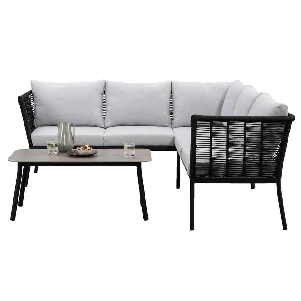 Le Sud loungeset Viviers - zwart - 3-delig - Leen Bakker