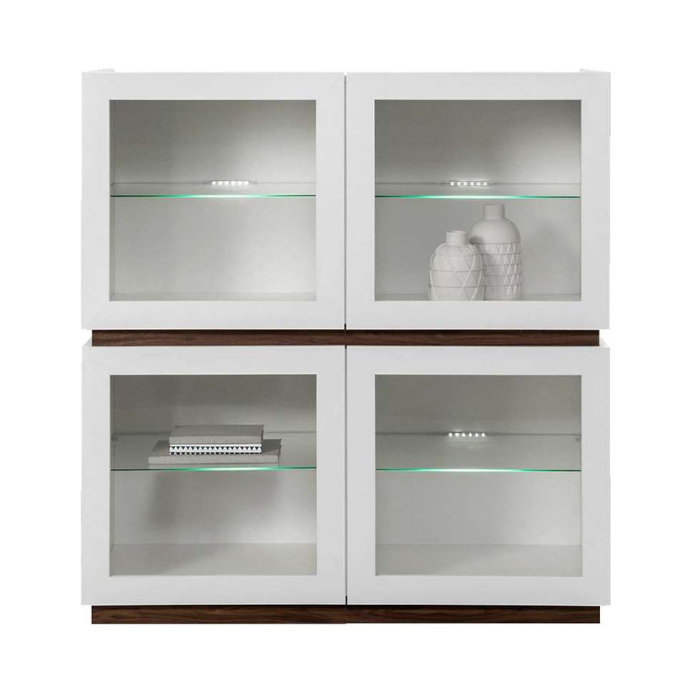 STOCK vitrine New York laag - wit - Leen Bakker