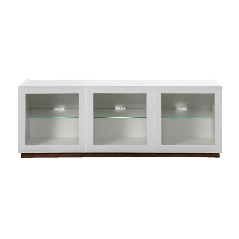 STOCK dressoir New York 3-deurs glas - wit - Leen Bakker