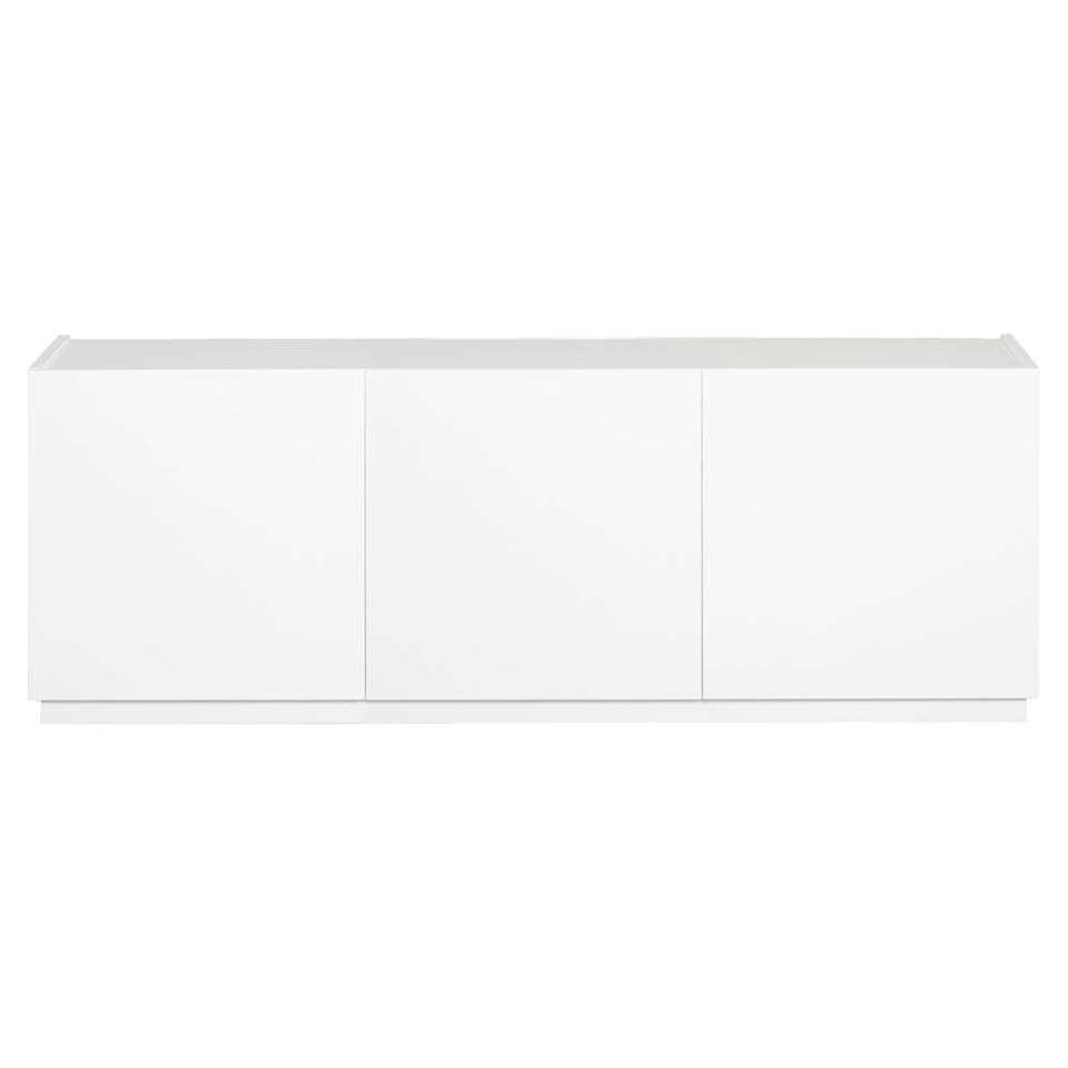 STOCK dressoir New York 3-deurs - wit - 60x184x48 cm - Leen Bakker