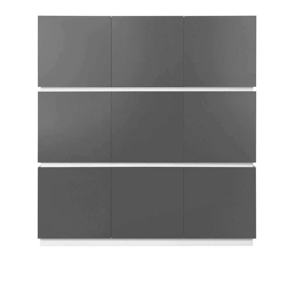 STOCK vitrine New York hoog - grijs/wit - Leen Bakker