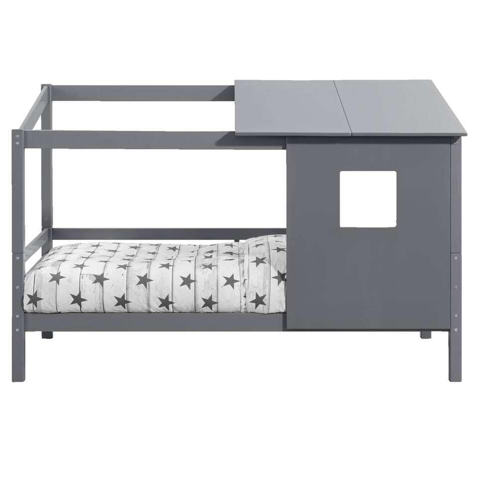 Bed Ties (incl. opzetdak) - grijs - 90x200 cm - Leen Bakker