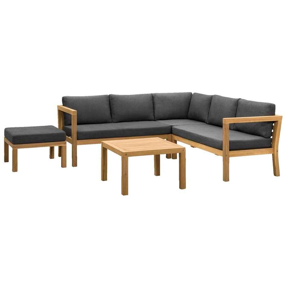 Le Sud loungeset Jura V2 - acacia - 3-delig - Leen Bakker